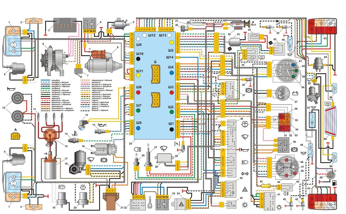 схемы электрооборудования ваз 2107 инжектор