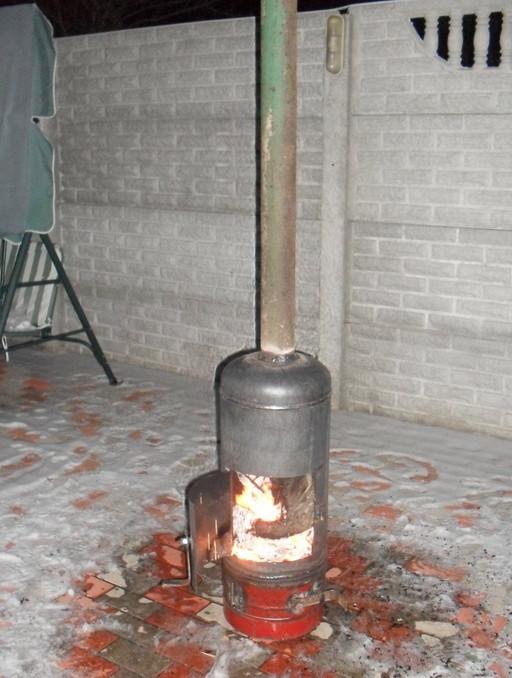 Как из газового баллона сделать печь