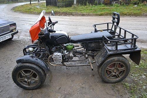 квадроцикл вместе с задним