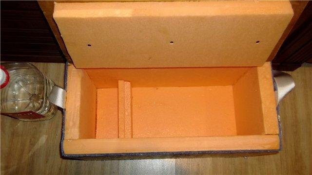 Как сделать ящик из пенопласта для зимней рыбалки своими руками