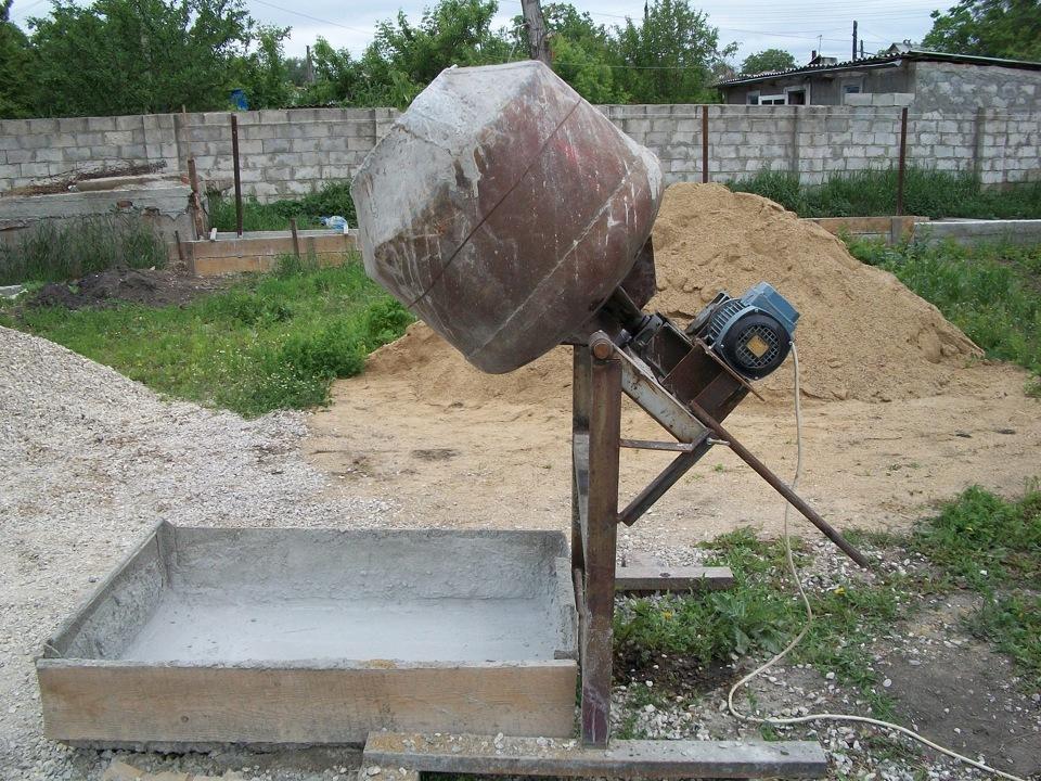 мини бетономешалка своими руками: