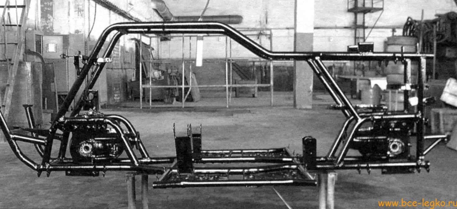 Квадроцикл 4х4 на базе ОКИ 92